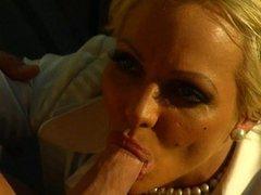 Blonde MILF Houston fucked at gas station