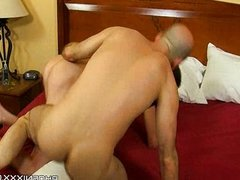 Dad lover takes his loverboy under his wing 3