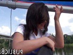 Tiny amateur teen public fuck on sailing boat