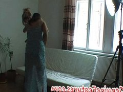 Horny housewife fists her pussy