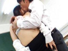 Azusa Nagasawa Asian big boobed teacher