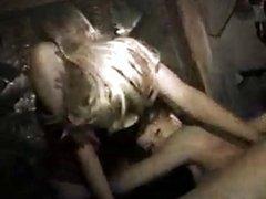Lesbian Hot Tub Strap on Dildo