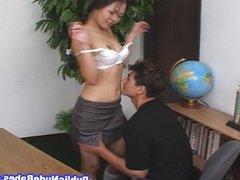 Asian Babe Hard Anal Inside Office