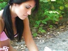 Raven Riley gets fucked on the trail