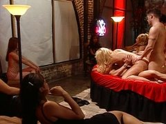 Blond group sex fucking in ass and pussy