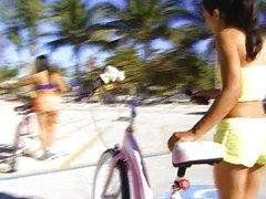 American stud  & 2 Latinas in nude resort I