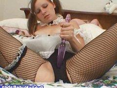 Slutty Maid Toy Masturbation