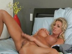 Two stunning lesbian blonde babes love