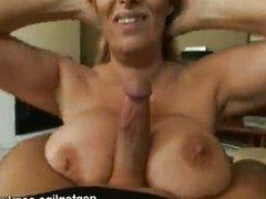 mature slut loves licking a big cock