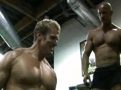 Bodybuilders Vin Marco Nate Christansen