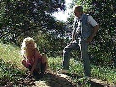 Blonde screwing a stranger outdoors