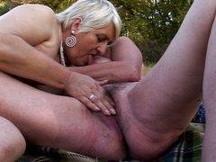 Granny pussy masturbation day trip into the green