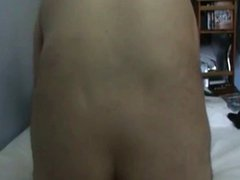 amateur gay gapping his ass with a dildo