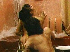Bathroom lesbian Asian pussy fun in the tub