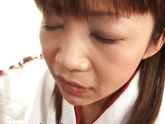 Ami Kitakima swallows a lot of jizz