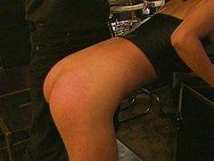 Asian fetish ass spanking
