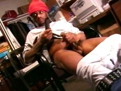 Black dude rubbing the rope