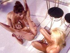 Striptease lesbian orgy