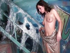 Fit brunette babe loves riding cock