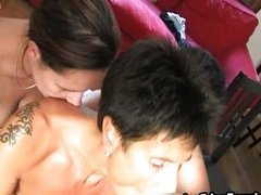 Group of horny mature moms sucking