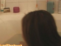 Petite Asian Caught on Cam In Bath Tub