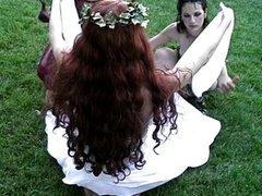 Fetish lesbian outside session