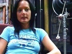 Naughty Melissa Lauren behind the scenes