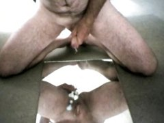First movie mastubating with toy and cum shot