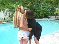 Giant lesbian Kayla Quinn toys Asian teen