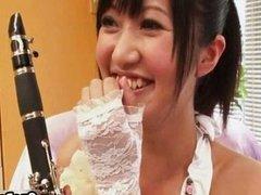 Cute and naughty Japanese teen girl