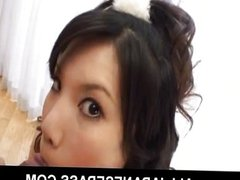 This baby faced Japanese babe loves to suck d