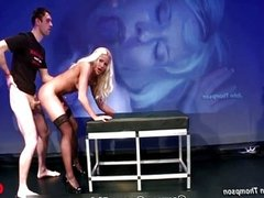Blonde whore loves getting fucked hard