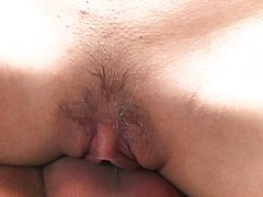 Outdoor Asian pussy mashing