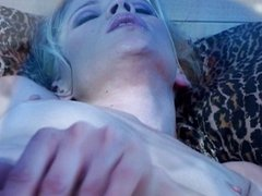 Hot tiny titt girl masturbates to orgasm