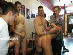 Gay round ass in public gangbang sex