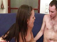 Teen babe fucked hard