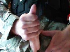 Military ACUs Smoking Cigar