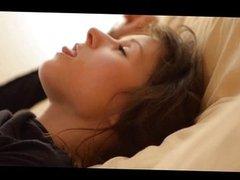 Voyeur movie of brunette woman Tatiana