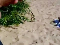 Public masturbation on the beach 3
