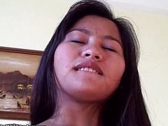 Cute big tit Asian teen fucked with cumshot