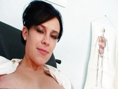 Beautiful big tits nurse internal pussy shots
