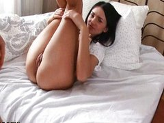 Hottie is sucking big rod