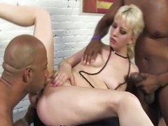 Interracial cock lover fucks and sucks