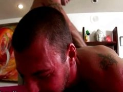 Straight guy gets off during massage