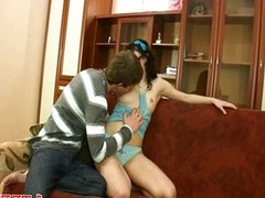 Teen gets pussy drilled