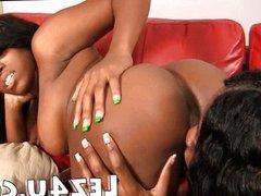 Hot black lesbians licking pussy