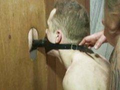 Guy gets gangfucked in public bathroom