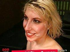 Bukkake german slut fuck and cum facials