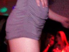 Horny girls fucking in close nightclub