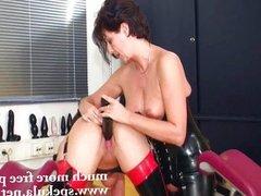 Kinky lesbians in latex -